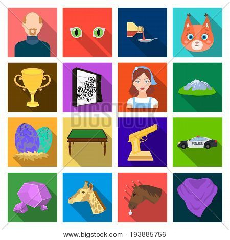 , nature, business, travel and other  icon in flat style. yoke, accessories, competitions icons in set collection