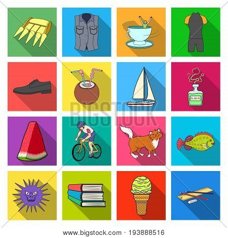 ecology, hygiene, business and other w icons in set collection.eb icon in flat style medicine, tourism, entertainment, .