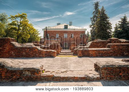 Brest, Belarus. Ruins Of Barracks On Territory Of Brest Fortress In Sunny Summer Day. Brest Hero-fortress Was The First Outpost In The Attack Of The Fascist Nazi Invaders On The Soviet Union.
