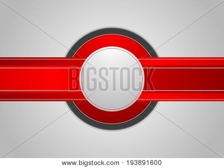 Hi-tech abstract corporate red grey background