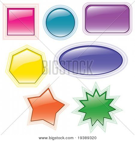 vector colorful and glossy buttons collection vol one