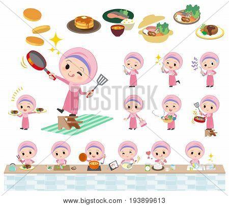Arab Girl Cooking