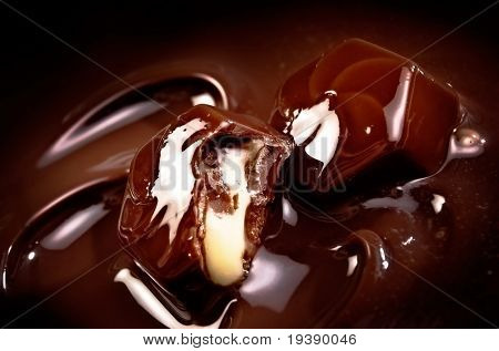 Melting chocolate sweets