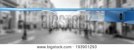 Interactive Glasses 3D Render On White Background