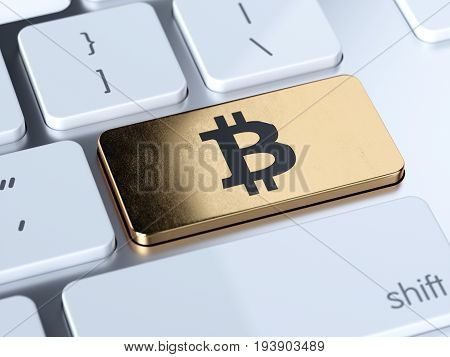 Bitcoin Computer Keyboard Button