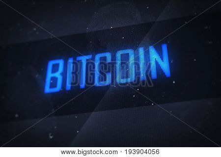 Bitcoin Digital Computer Screen Concept