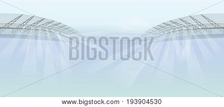 stadium projectors lights abstract vector background illustration