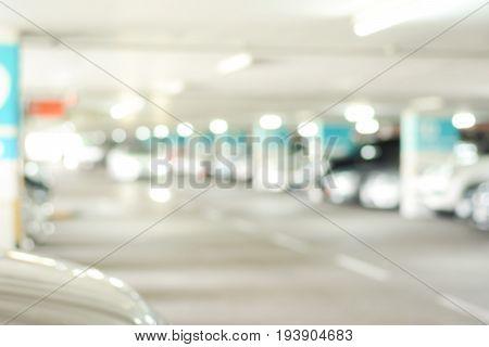 Indoor car park - blurred image for background