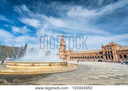 Plaza De España Seville, Andalucia, Spain