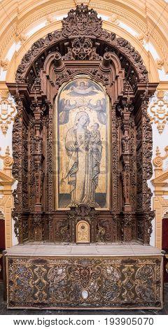 Alcazar Seville Andalucia Spain. Decorative archway feature