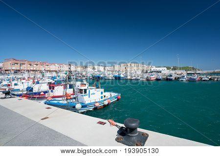 Boat Port At Tarifa, Spain