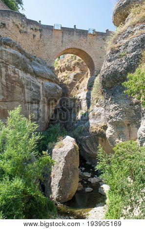 Original Old Bridge (puente Viejo) - Ronda, Andalucia, Spain