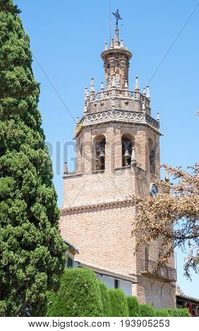 Church Tower of Iglesia de Santa Maria Ronda Andalusia Spain