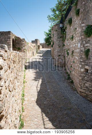 Ancient City Walls surrounding Ronda Andalucia Spain