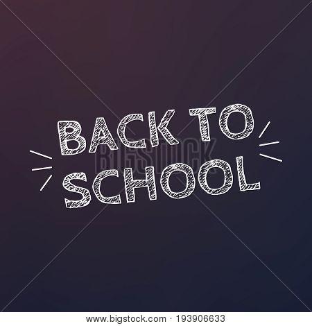 Back To School Flyer Template. Back To School Background. School