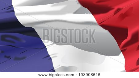 Waving flag of Republique Francaise background vector