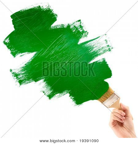 Painting green shape