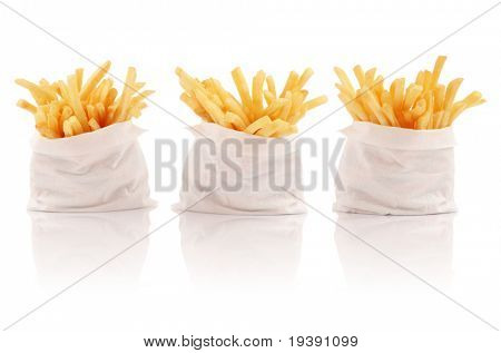 Three packs of french fries