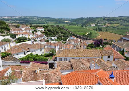 Obidos is an ancient medieval Portuguese village from the 11th century still inside castle walls. Obidos Portugal