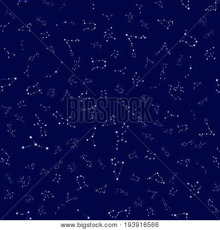 Seamless pattern with zodiac signs. Zodiac constellation