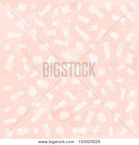 Woman clothes white and pink peach watercolor background. Vector illustration.
