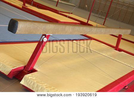 Gymnastic equipment in a gymnastic center in the Faroe Islands