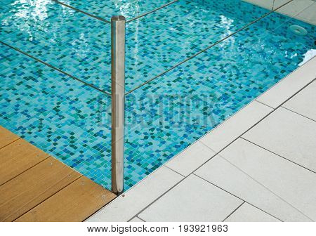 Detail of Swimming Pool - Clear Blue Water.