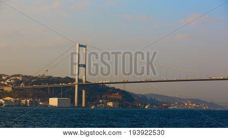 The Bosphorus Bridge connecting Europe and Asia