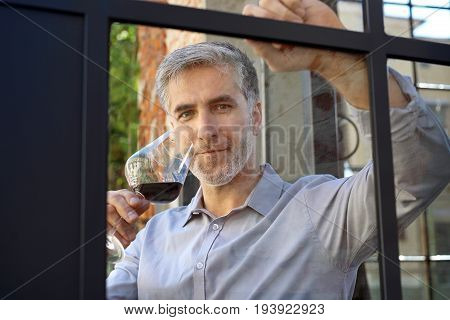 A glass of wine, a moment of relaxation on a sunny afternoon