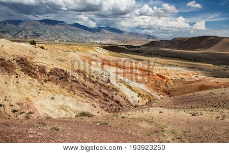 Martian landscape of Kyzyl-Chin in Altai, Russia.