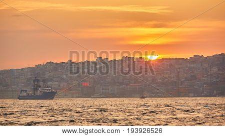 Besiktas coastline, the European side of Istanbul