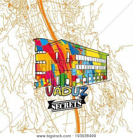 Vaduz Travel Secrets Art Map