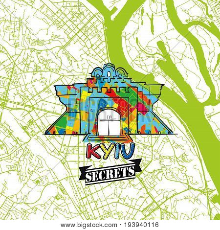 Kyiv Travel Secrets Art Map