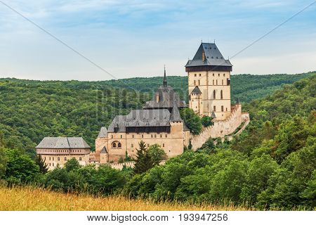 Karlstejn Castle large Gothic castle founded 1348 CE by Charles IV Czech Republic