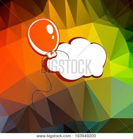 balloon vector celebration illustration decoration helium holiday party birthday