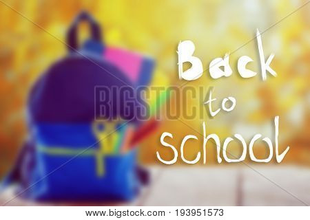 Back To School On Full School Backpack Background.