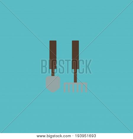 Flat Icon Garden Instruments Element. Vector Illustration Of Flat Icon Tools Isolated On Clean Background. Can Be Used As Garden, Tools And Instruments Symbols.