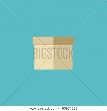 Flat Icon Box Element. Vector Illustration Of Flat Icon Case  Isolated On Clean Background. Can Be Used As Box, Packaging And Parcel Symbols.