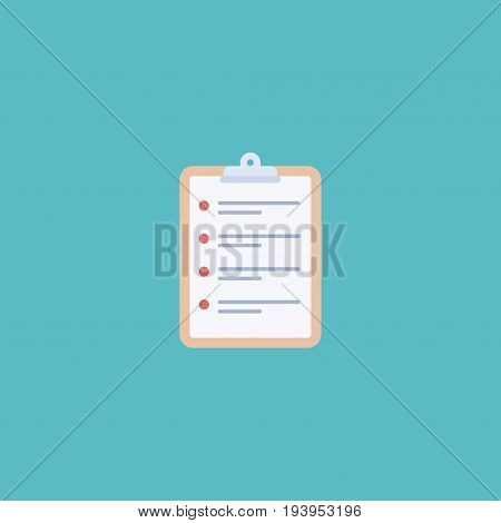 Flat Icon Schedule Element. Vector Illustration Of Flat Icon Task List Isolated On Clean Background. Can Be Used As Schedule, Task And List Symbols.