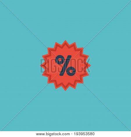 Flat Icon Sale Element. Vector Illustration Of Flat Icon Percentage Isolated On Clean Background. Can Be Used As Sale, Percentage And Action Symbols.