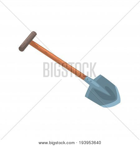 Garden shovel, agriculture tool cartoon vector Illustration isolated on a white background