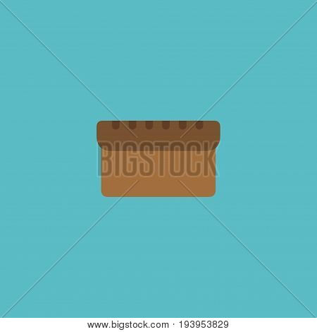 Flat Icon Bread Element. Vector Illustration Of Flat Icon Loaf Isolated On Clean Background. Can Be Used As Bread, Loaf And Bakery Symbols.