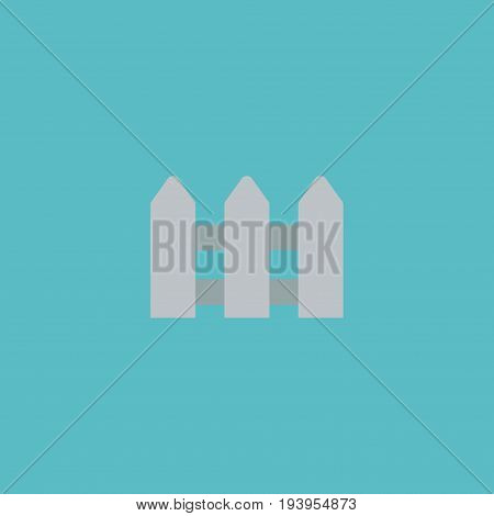 Flat Icon Hedge Element. Vector Illustration Of Flat Icon Fence Isolated On Clean Background. Can Be Used As Hedge, Fence And Fencing Symbols.
