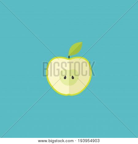 Flat Icon Apple Element. Vector Illustration Of Flat Icon Jonagold Isolated On Clean Background. Can Be Used As Apple, Jonagold And Fruit Symbols.