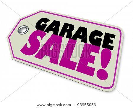 Garage Sale Price Tag Sale 3d Illustration