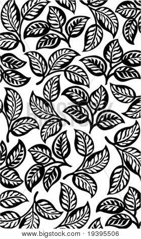 Black leaves pattern background.
