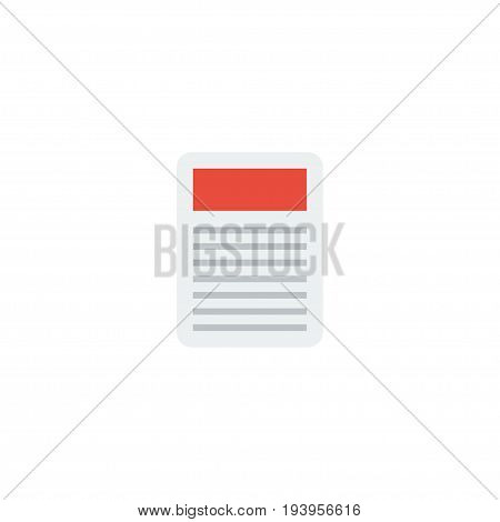 Flat Icon Newspaper Element. Vector Illustration Of Flat Icon Journal Isolated On Clean Background. Can Be Used As Newspaper, Journal And Ad Symbols.