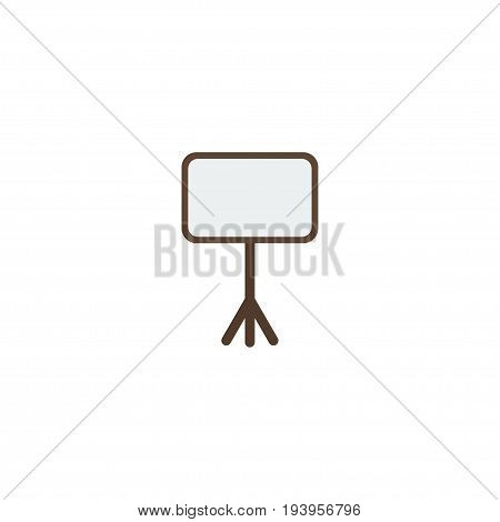 Flat Icon Whiteboard Element. Vector Illustration Of Flat Icon Board Stand Isolated On Clean Background. Can Be Used As Whiteboard, Board And Stand Symbols.