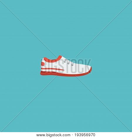 Flat Icon Sneakers Element. Vector Illustration Of Flat Icon Shoes  Isolated On Clean Background. Can Be Used As Sneakers, Trekking And Shoes Symbols.