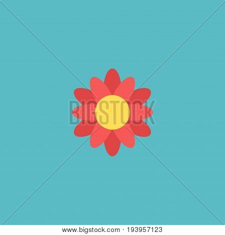 Flat Icon Flower Element. Vector Illustration Of Flat Icon Blossom  Isolated On Clean Background. Can Be Used As Flower, Blossom And Flora Symbols.